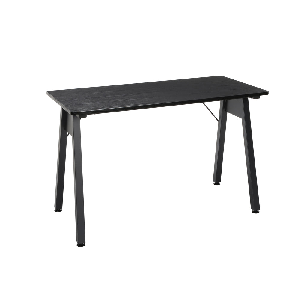 "OFM Essentials Collection 48"" Table Desk, Black Woodgrain (ESS-1050-BLK-BLK) ; UPC: 192767000123 ; Image 1"