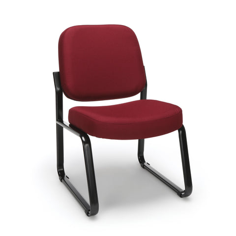 OFM Model 405 Fabric Armless Guest and Reception Chair, Wine ; UPC: 811588014279 ; Image 1