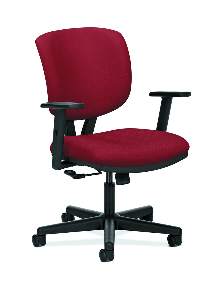 HON Volt Task Chair | Center-Tilt, Tension, Lock | Adjustable Arms | Crimson Fabric ; UPC: 192767000994 ; Image 1