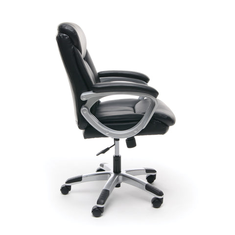 Essentials by OFM ESS-6020 Executive Office Chair, Black with Silver Frame ; UPC: 089191013860 ; Image 4