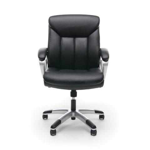 Essentials by OFM ESS-6020 Executive Office Chair, Black with Silver Frame ; UPC: 089191013860 ; Image 2