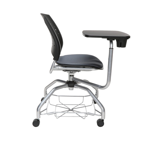 OFM Stars Foresee Series Tablet Chair with Removable Fabric Seat Cushion - Student Desk Chair, Slate Gray (329T) ; UPC: 845123094242 ; Image 4