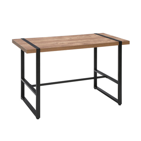 "OFM Core Collection Modern 48"" Metal O-Frame Computer Desk, in Knotty Oak (1060 -BLK-KOA) ; UPC: 192767000918 ; Image 1"