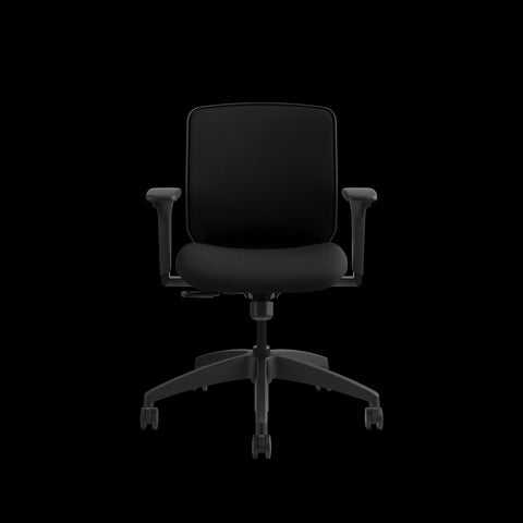 HON Quotient Mid-Back Task Chair with Mesh Back, in Black (HQTMM) ; UPC: 089192690589 ; Image 2