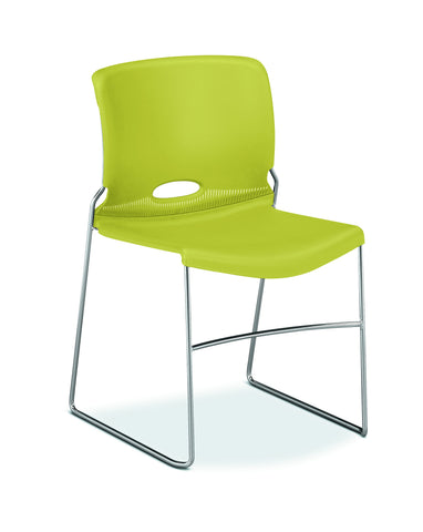 HON Olson High-Density Stacking Chair, Set of 4, in Lime (H4041) ; UPC: 791579421333 ; Image 1