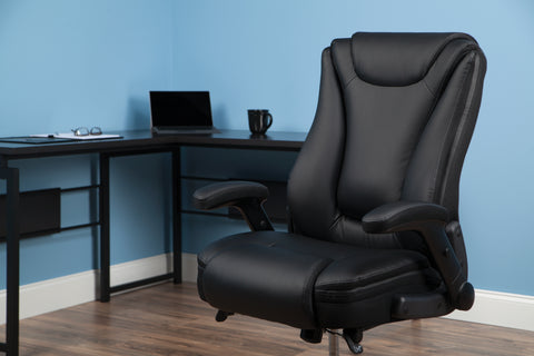 OFM Essentials Series Ergonomic Executive Bonded Leather Office Chair, in Black(ESS-6047-BLK) ; UPC: 192767000314 ; Image 12