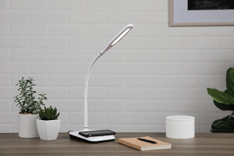 OFM 4015-8PK-WHT LED Desk Lamp with Touch Activated Switch and Integrated Wireless Charging Station, White (Pack of 8) ; UPC: 192767001281 ; Image 11