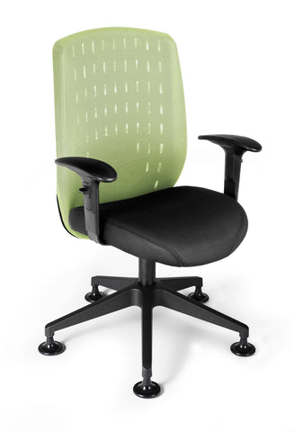 OFM Vision Executive Guest Chair - Mesh Back Conference Chair, Celery (655-2707) ; UPC: 845123005897 ; Image 1