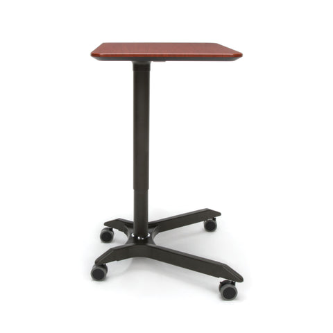 OFM Mesa Series Mobile Standing Desk - Height Adjustable Laptop Table, Workstation, Cherry/Gray (66100-CHY) ; UPC: 845123092835 ; Image 4