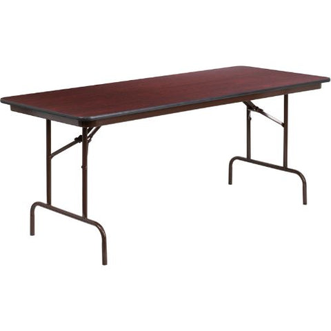 Flash Furniture 30'' x 72'' Rectangular High Pressure Mahogany Laminate Folding Banquet Table YT3072HIGHWALGG ; Image 1 ; UPC 847254099462