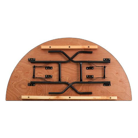 Flash Furniture 60'' Half-Round Wood Folding Banquet Table YTWHRFT60HFGG ; Image 2 ; UPC 847254048804