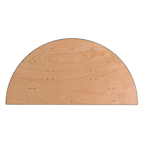 Flash Furniture 60'' Half-Round Wood Folding Banquet Table YTWHRFT60HFGG ; Image 3 ; UPC 847254048804