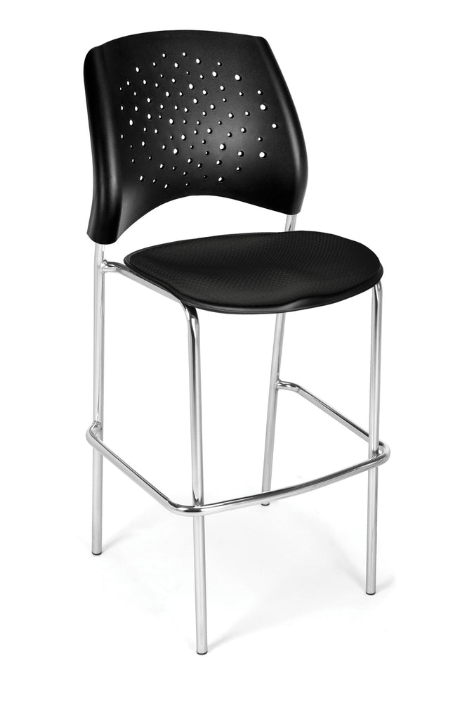OFM 328C-2224 Stars Cafe Height Chair, Black ; UPC: 845123005002 ; Image 1