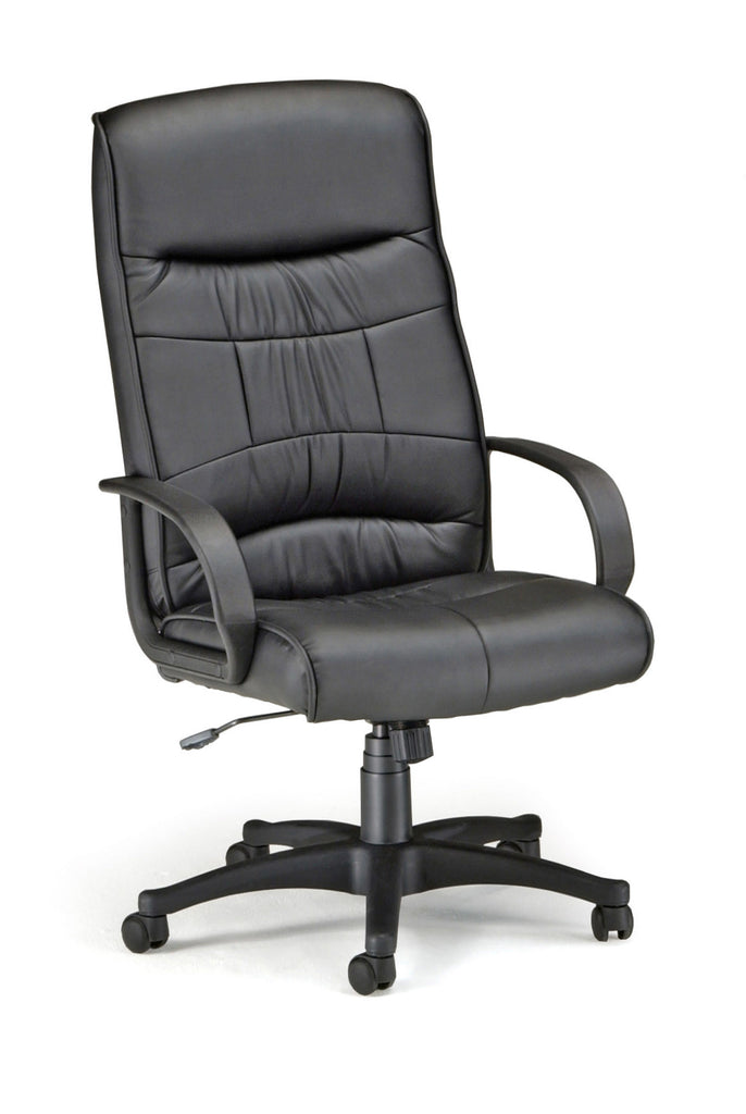 OFM Encore Series Model 507-LX Leatherette Executive High-Back Chair, Black ; UPC: 811588014477 ; Image 1
