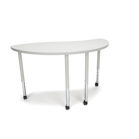 OFM Adapt Series Ying Standard Table - 25-33? Height Adjustable Desk with Casters, Gray Nebula (YING-LLC) ; UPC: 845123096475 ; Image 1