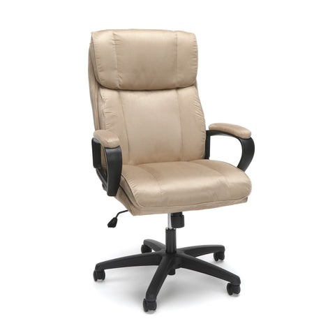 Essentials by OFM ESS-3081 Plush High-Back Microfiber Office Chair, Tan ; UPC: 845123095270 ; Image 1