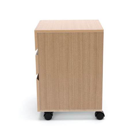 OFM Essentials 3-Drawer Wheeled Mobile Pedestal Cabinet, Harvest (ESS-1030-HVT) ; UPC: 845123090619 ; Image 5