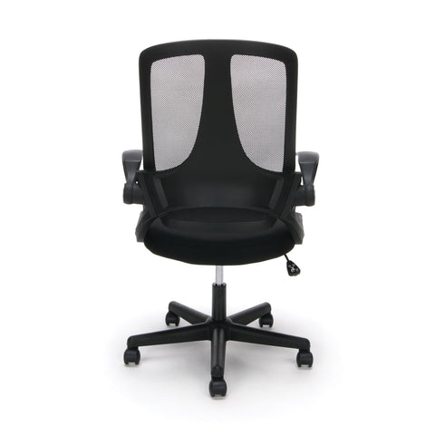 Essentials by OFM ESS-3045 Mesh Upholsterd Flip-Arm Task Chair, Black ; UPC: 845123089262 ; Image 3
