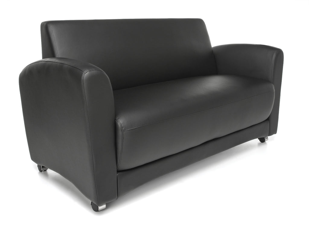 OFM InterPlay Series Model 822-NT Double Seating Sofa, Black ; UPC: 845123042342 ; Image 1
