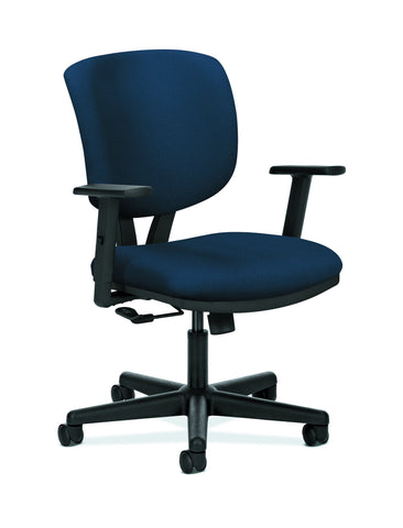 HON Volt Task Chair | Center-Tilt, Tension, Lock | Adjustable Arms | Navy Fabric ; UPC: 192767001007 ; Image 1