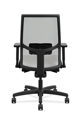 HON Ignition 2.0 Mid-Back Adjustable Lumbar Work Chair - Fog Mesh Computer Chair for Office Desk, Black Fabric (HONI2M2AFLC10TK) ; UPC: 888206730880 ; Image 3