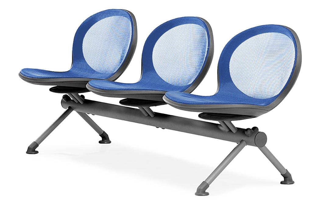 OFM NB-3-MARINE Net Series Beam Seating with 3 Chairs, Marine ; UPC: 845123026793 ; Image 1
