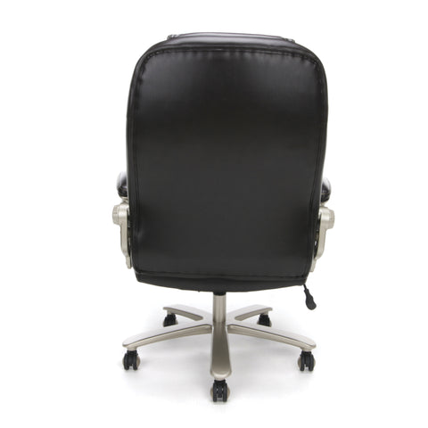 Essentials by OFM ESS-201 Big and Tall Leather Executive Office Chair with Arms, Brown/Bronze ; UPC: 845123080122 ; Image 3