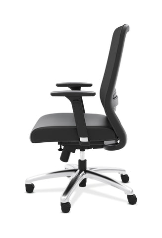HON Exposure Mesh Task Chair - Mesh High-Back Computer Chair with Leather Seat for Office Desk, Black (HVL721) ; UPC: 089191242994 ; Image 5