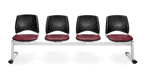 OFM 324-VAM-603 Stars 4-Unit Beam Seating with 4 Vinyl Seats ; UPC: 845123021422 ; Image 1