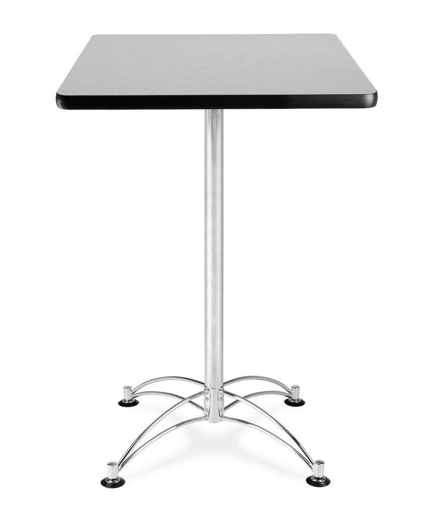 "OFM Model CCLT24SQ 24"" Square Cafe Height Table, Gray Nebula with Chrome Base ; UPC: 845123006313 ; Image 1"