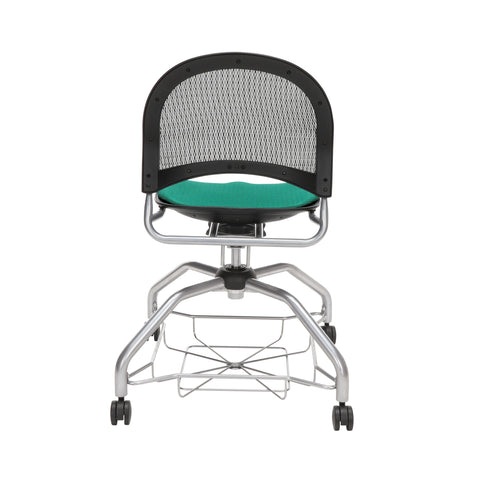 OFM Moon Foresee Series Chair with Removable Fabric Seat Cushion - Student Chair, Shamrock Green (339) ; UPC: 845123094358 ; Image 3