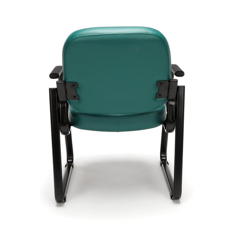 OFM Model 403-VAM Guest and Reception Chair with Arms, Anti-Microbial/Anti-Bacterial Vinyl, Teal ; UPC: 811588014170 ; Image 3