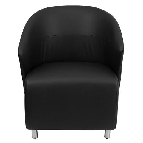 Flash Furniture Black Leather Curved Barrel Back Lounge Chair ZB1GG ; Image 4 ; UPC 847254099530