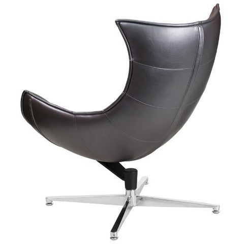 Flash Furniture Gray Leather Swivel Cocoon Chair ZB37GG ; Image 4 ; UPC 889142047858