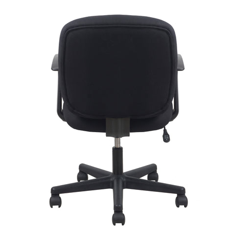 Essentials by OFM ESS-3070 Upholstered Swivel Task Chair with Arms, Black ; UPC: 089191013204 ; Image 3