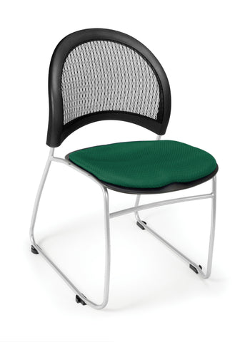 OFM 335-2221 Moon Stack Chair, Forest Green ; UPC: 845123005453 ; Image 1