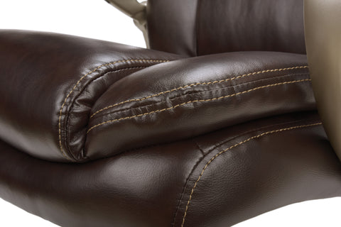 Essentials by OFM ESS-201 Big and Tall Leather Executive Office Chair with Arms, Brown/Bronze ; UPC: 845123080122 ; Image 10