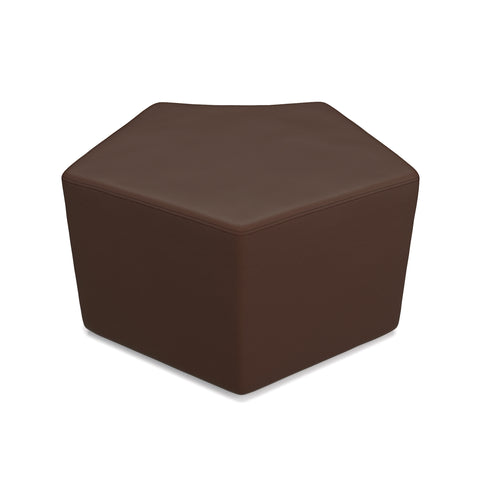 OFM Quin Series Model 55 Polyurethane Stool, Brown ; UPC: 845123080634 ; Image 1