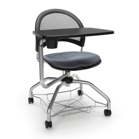 OFM Moon Foresee Series Tablet Chair with Removable Fabric Seat Cushion - Student Desk Chair, Slate Gray (339T) ; UPC: 845123094686 ; Image 1