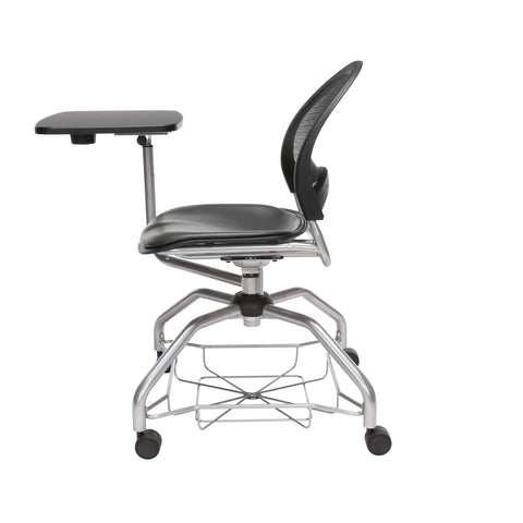 OFM Moon Foresee Series Tablet Chair with Removable Vinyl Seat Cushion - Student Desk Chair, Charcoal (339T-VAM) ; UPC: 845123094761 ; Image 5