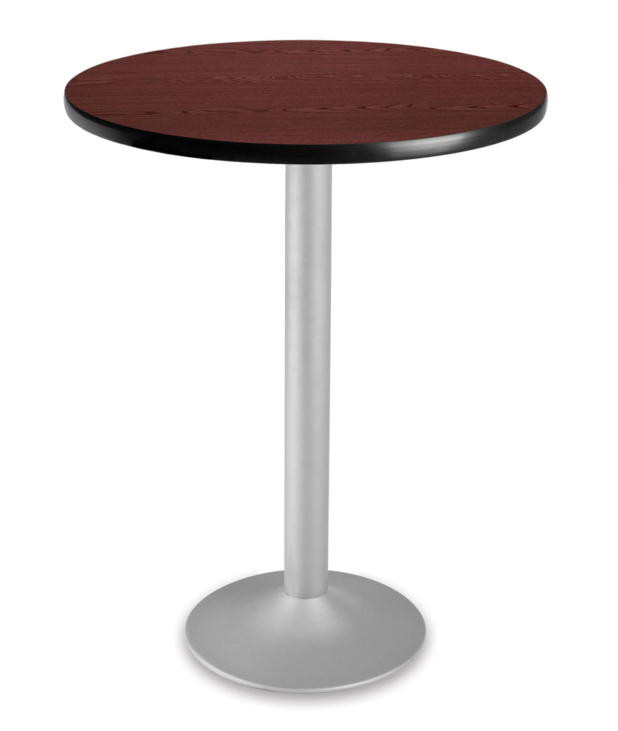 "OFM Model CFT30RD 30"" Round Folding Cafe Height Table with Pedestal Base, Mahogany ; UPC: 845123006160 ; Image 1"