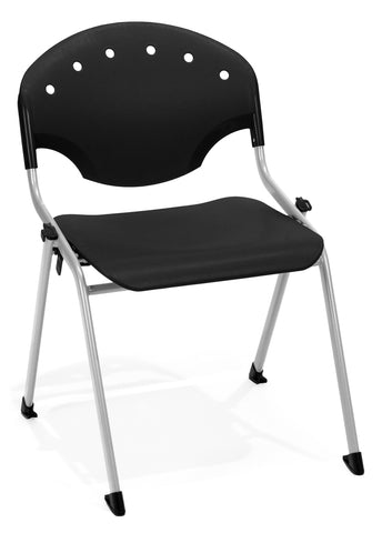 "OFM 305-P0 Rico Stack Chair, 18"" Height, Black (Pack of 4) ; UPC: 811588013593 ; Image 1"
