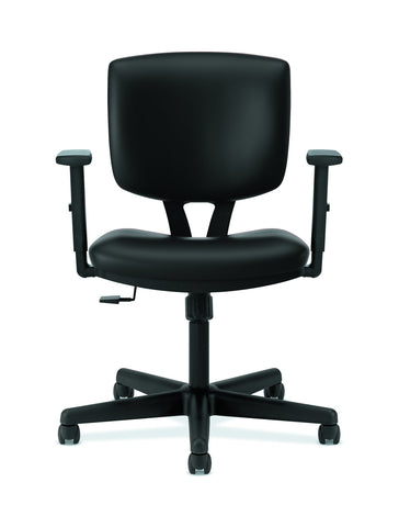 HON Volt Task Chair | Synchro-Tilt, Tension, Lock | Adjustable Arms | Black SofThread Leather ; UPC: 192767001014 ; Image 2