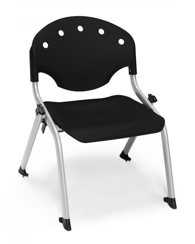 "OFM 305-12-P0 Student Stack Chair, 12"" Height, Black (Pack of 4) ; UPC: 845123022061 ; Image 1"