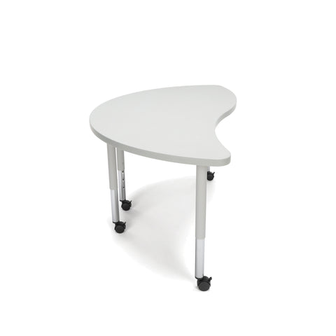 OFM Adapt Series Ying Student Table - 20-28? Height Adjustable Desk with Casters, Gray Nebula (YING-SLC) ; UPC: 845123096796 ; Image 4