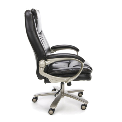 Essentials by OFM ESS-201 Big and Tall Leather Executive Office Chair with Arms, Brown/Bronze ; UPC: 845123080122 ; Image 4