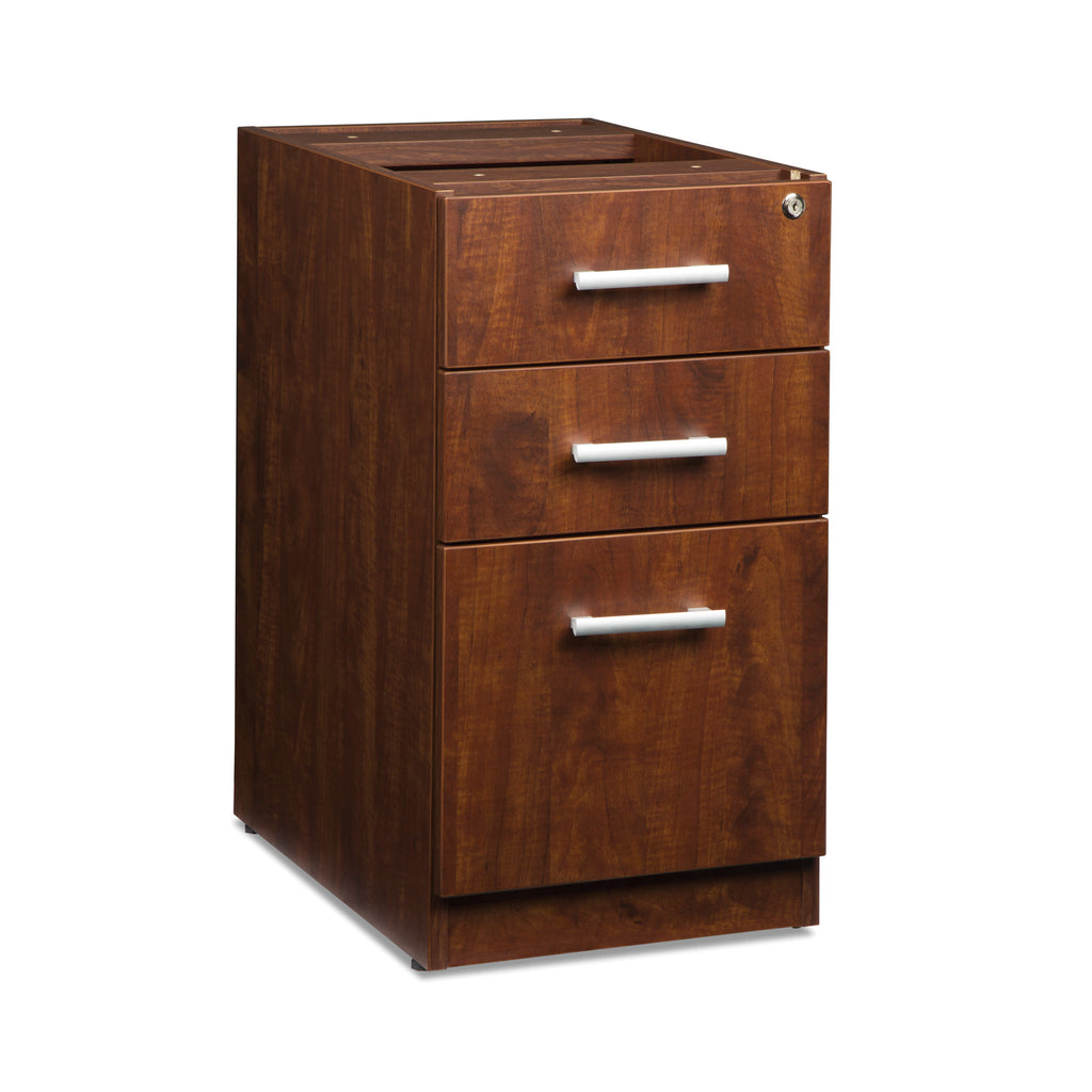 OFM Fulcrum Series Locking Pedestal, 3-Drawer Filing Cabinet, Cherry (CL-BBF-CHY) ; UPC: 845123097465 ; Image 1