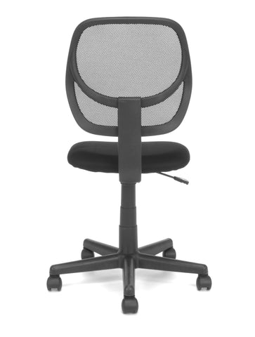 Essentials by OFM E1009 Armless Mesh Back and Fabric Task Chair, Black ; UPC: 845123032435 ; Image 3