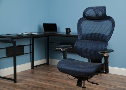 OFM Model 540-BLU Core Collection Ergo Mesh Office Chair with Head Rest for Computer Desk, Blue ; UPC: 192767000376 ; Image 11