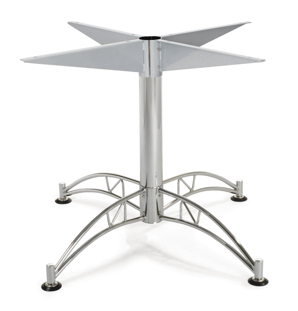 "OFM Core Collection Model LTBASE-LARGE Chrome Base Designed for 40"" - 45"" Table Tops ; UPC: 845123014677 ; Image 1"